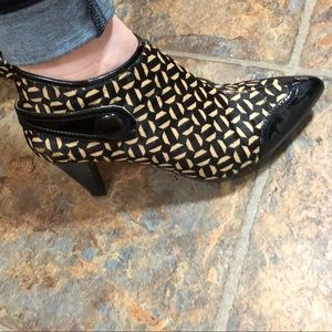 Franco Sarto Shoes - NWOT Franco Sarto Patterned Booties 7